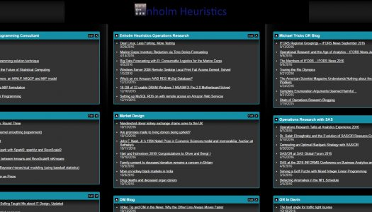 New app showing feeds from our favorite Operations Research and Data Science Blogs
